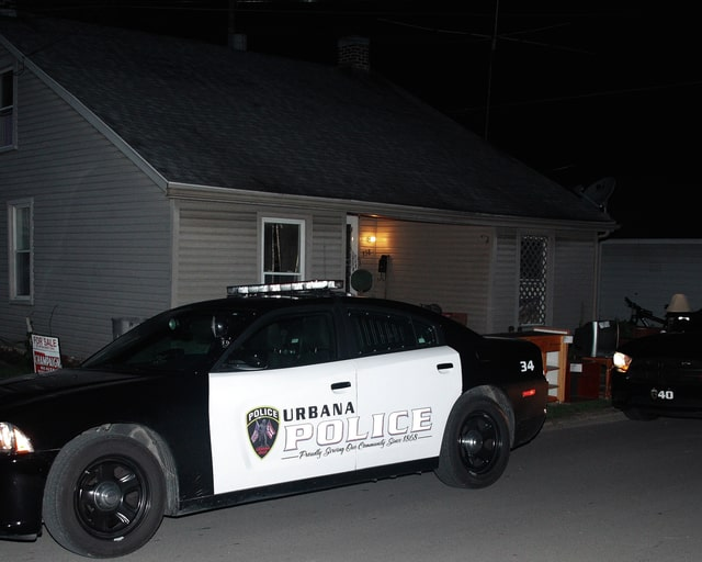 The Urbana Police Division served a drug search warrant at 338 N. Kenton St., Thursday. Officers found drugs, drug abuse instruments and drug paraphernalia during the raid.