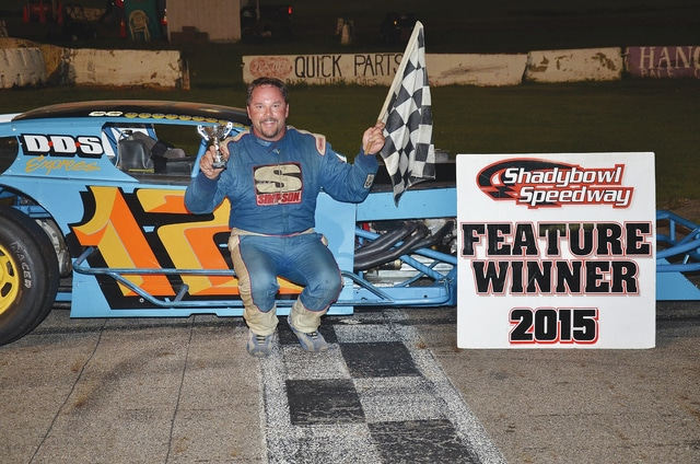 Chad Poole (pictured) claimed victory in the modifieds last Saturday night at Shady Bowl Speedway. This Saturday night, Shady Bowl will host the 67-lap Lee Raymond Memorial for the modifieds. It will pay $2000 to win. The late models, street stocks, tuners, compacts and pure stocks will also be on the schedule.