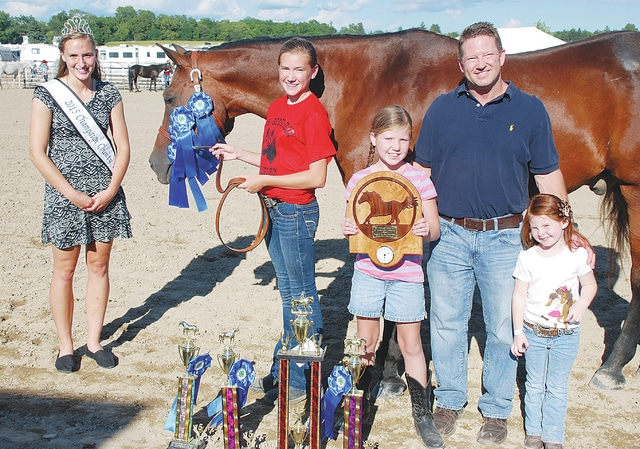 Addie Johnson, Junior Versatility Winner; sponsored for $100 by Mack Wright, DDS and Kenna Wright.