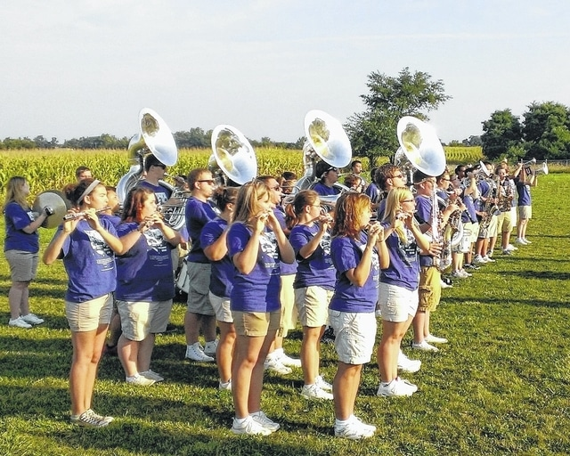 UHS band members start off last year's event with the national anthem.