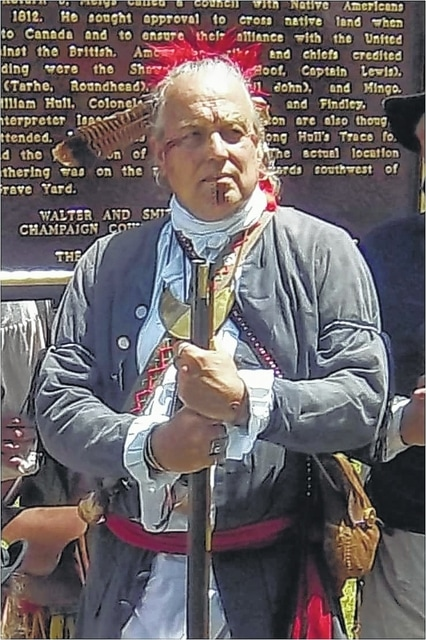 Black Hoof (Rusty Cottrel), a Shawnee Indian, will speak at the Crabill Homestead at 1:30 p.m. Aug. 15 and 16. Cottrel will portray the life of a chief among the Shawnee nation in the late 18th and early 19th centuries. The Crabill Homestead is on the banks of the C.J. Brown Reservoir at 2800 Croft Road, Springfield. It will be open 1-3 p.m. for guests to walk through and see how the family might have lived in the 1840s. There is a suggested donation of $5 for visitors 18 and older.