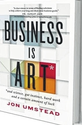 "Urbana resident Jon Umstead wrote ""Business is ART,"" which will be released in mid-September. Copies can be pre-ordered through him or online at www.businessisart.net."