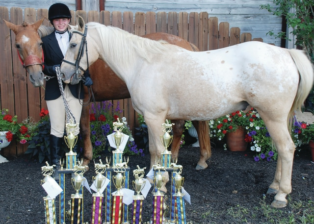 McKenzie Richards, First Place Junior Stakes Race, First Place Junior Poles Bending, First Place Working Hunter Pony Under Saddle 8-13, First Place Junior Cones and Barrels, First Place Junior Speed and Control, First Place Hunter Hack 8-13, First Place Cross Railes 8-13, Champion Combined Times Junior Barrels and Poles, Champion Combined Times Stakes and Cones and Barrels, Champion Combined Times Speed and Control and Keyhole, Fifth Place Intermediate Skillathon winner.