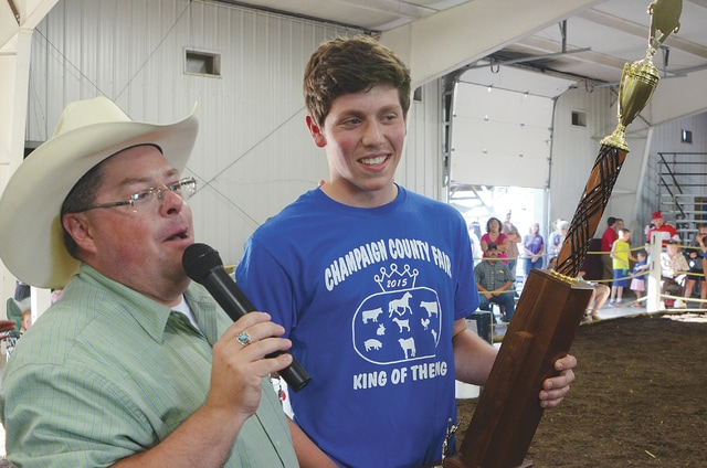 Hadley LeVan won the 2015 King of the Ring showmanship competition on Thursday at the Champaign County Fair. LeVan joins his older brother Hank (2011) as a winner.