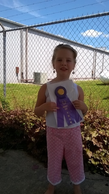 Sportwear 5-8 years - Kaydence Cox 1st place made by Lisa Cox, Homemakers Style Show
