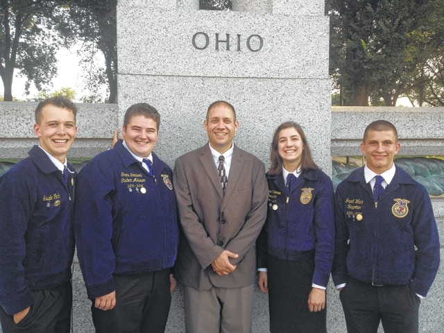 From left are Swayde Finch, Shane Souders, Steve Wilhelm, Kaylan Turnmire and Jared Weller.