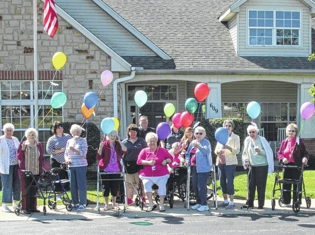 Urbana Mayor Bill Bean proclaimed Sept. 13-19 National Assisted Living Week and participated in a balloon launch with Brookdale Urbana residents and staff.
