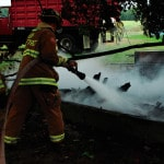 Fire destroys small barn
