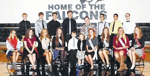 The 2015 Graham High School Homecoming Court includes, front row from left, Holley Wiley, Rachel Kaiser, Katie Powell, Sarah Henry, Luke Traylor, Reese Maurice, Paige Weaver, Megan Lewis, Taylor Gibson and Kayla Tullis; back row from left, Matthew Flora, Zachery Caudill, Dalton Hanlin, Alex Jenkins, Dustin Knowles, Brandon Thompson, Mario Kastl and Nate Zavada.