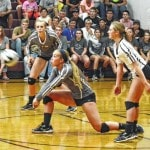 Falcons down UHS in volleyball