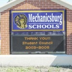 Community-funded digital sign makes debut at Mechanicsburg school