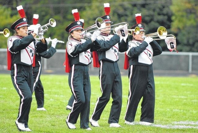 Members of Graham's brass section perform during the Graham Band Festival on Saturday.