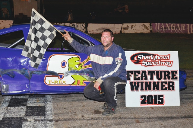 Nicholas Meade (pictured) won the first Compact feature at Shady Bowl Speedway last week. Stock car racing will resume at Shady Bowl this Saturday beginning at 7 p.m.