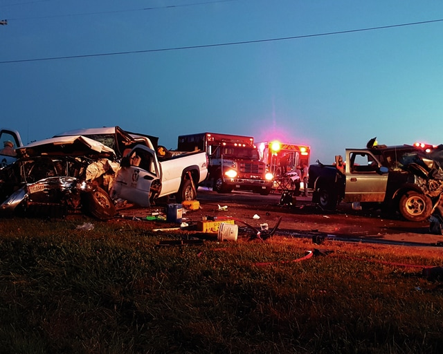 Two drivers involved in an injury crash at North U.S. Route 68 and West Kanagy Road were taken to Miami Valley Hospital via CareFlight on Monday. The crash remained under investigation as of Tuesday afternoon.