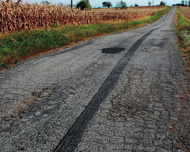 Salem Township is trying to pass a road maintenance levy next month after voters rejected a road levy last November. Pictured is a portion of Clark Road in Salem Township.