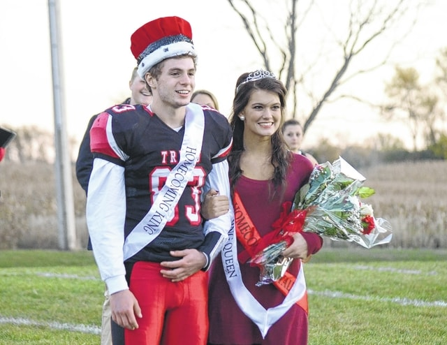 Triad crowned Tim Marsalis and Hanna Long its 2015 Homecoming King and Queen Friday before the football game versus West Liberty-Salem.