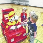 Sparky the Fire Dog visits YMCA