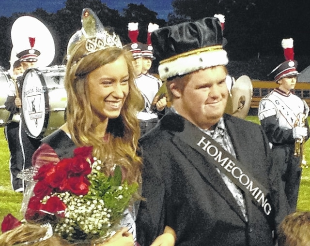 Megan Lewis and Dustin Knowles were crowned 2015 Graham Homecoming Queen and King prior to Graham's football game against Indian Lake Friday night.