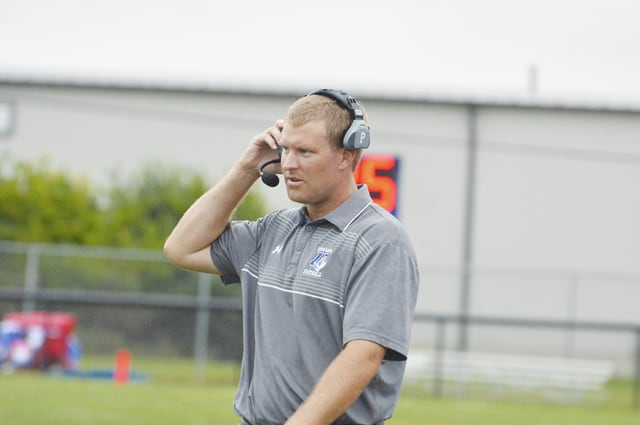 First-year UU football coach Tyler Haines (pictured) will be seeking his second win of the season on Saturday when the Blue Knights host Fairmont State.