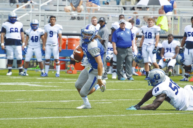 Eric Pelfrey (pictured) will be starting at quarterback again this week for Urbana University.