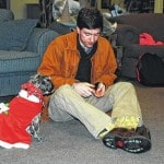 Dogs helping UU students cope with finals stress