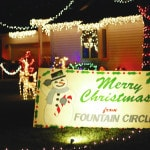 Fountain Circle residents light up season