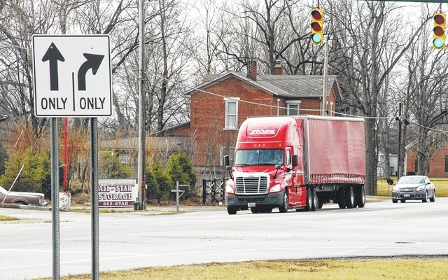A semitrailer makes its way into Urbana via South U.S. Route 68 on Monday. Over the next year and a half, the Logan-Union-Champaign Regional Planning Commission's Regional Transportation Planing Organization will be developing a regional freight plan for Champaign and Logan counties.