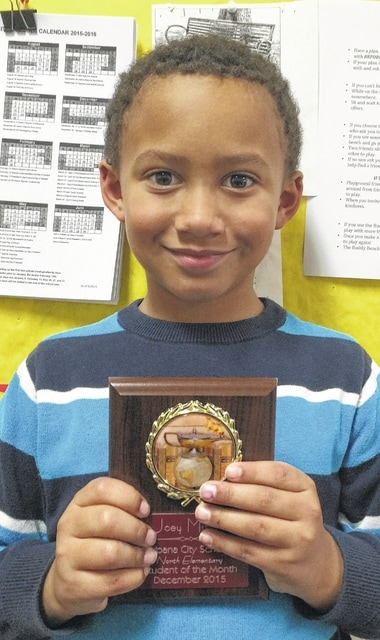 Joey Mitchell, Urbana North first grader and Student of the Month
