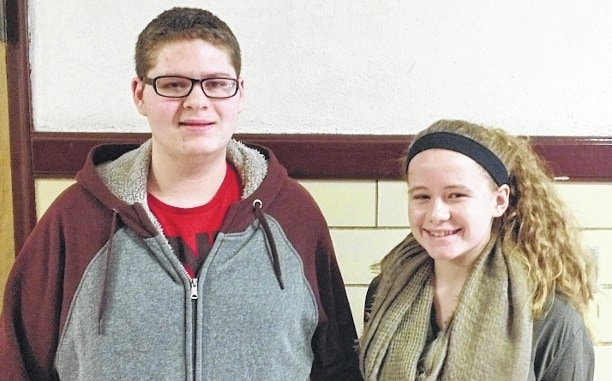 The Urbana High School Students of the Month are, from left, Freshmen Jason Dennison and Marissa Horn.