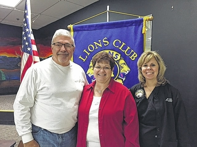 Kathy Meyer provided the program at last week's Urbana Lions Club meeting. She discussed the ballot issues and the latest technology being used in the upcoming election on March 15. Poll workers are still needed. Interested persons should call the elections board office at 484-1575. Pictured from left are Urbana Lions Club program chairman Steve Moore; the current director of the Champaign County Board of Elections, Kathy Meyer; and Lions Club President Elaine Dyer.
