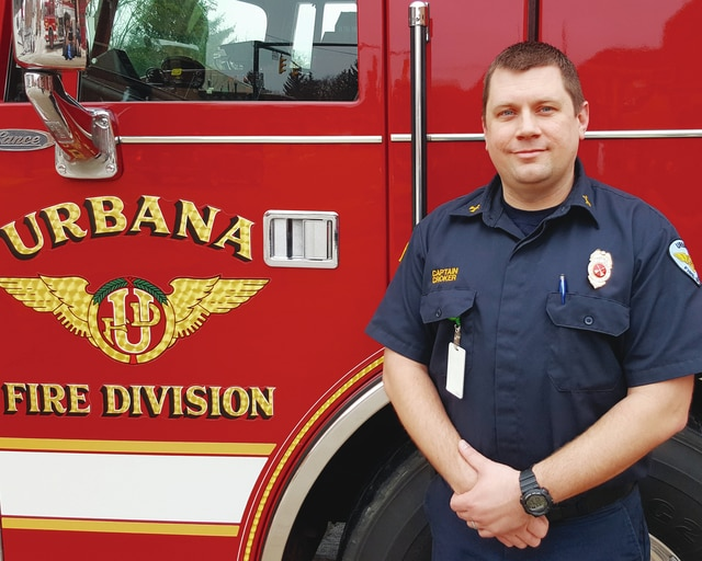 After almost 12 years with the Urbana Fire Division, Urbana Firefighter/Paramedic Jason Croker has been promoted to fire captain.