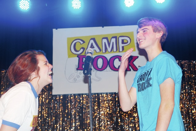 <em>Camp Rock</em> will be performed at Urbana High School this Friday, March 4 at 7:30 p.m. and Saturday, March 5 at 2:30 p.m. and 7:30 p.m. Pre-sale tickets are $8 for seniors and students and $10 for adults. All tickets are $10 at the door. To order pre-sale tickets call 653-1414. Pictured are Macy Pierce, who is playing <em>Mitchie</em>, and Wes Brown, who is playing <em>Shane Gray</em>. The musical is directed by Rusty Myers.