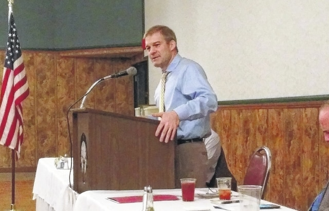 U.S. Rep. Jim Jordan, R-Urbana, was the keynote speaker at the Allen County Republican Party Luncheon held Friday at the Lima Elks Lodge.