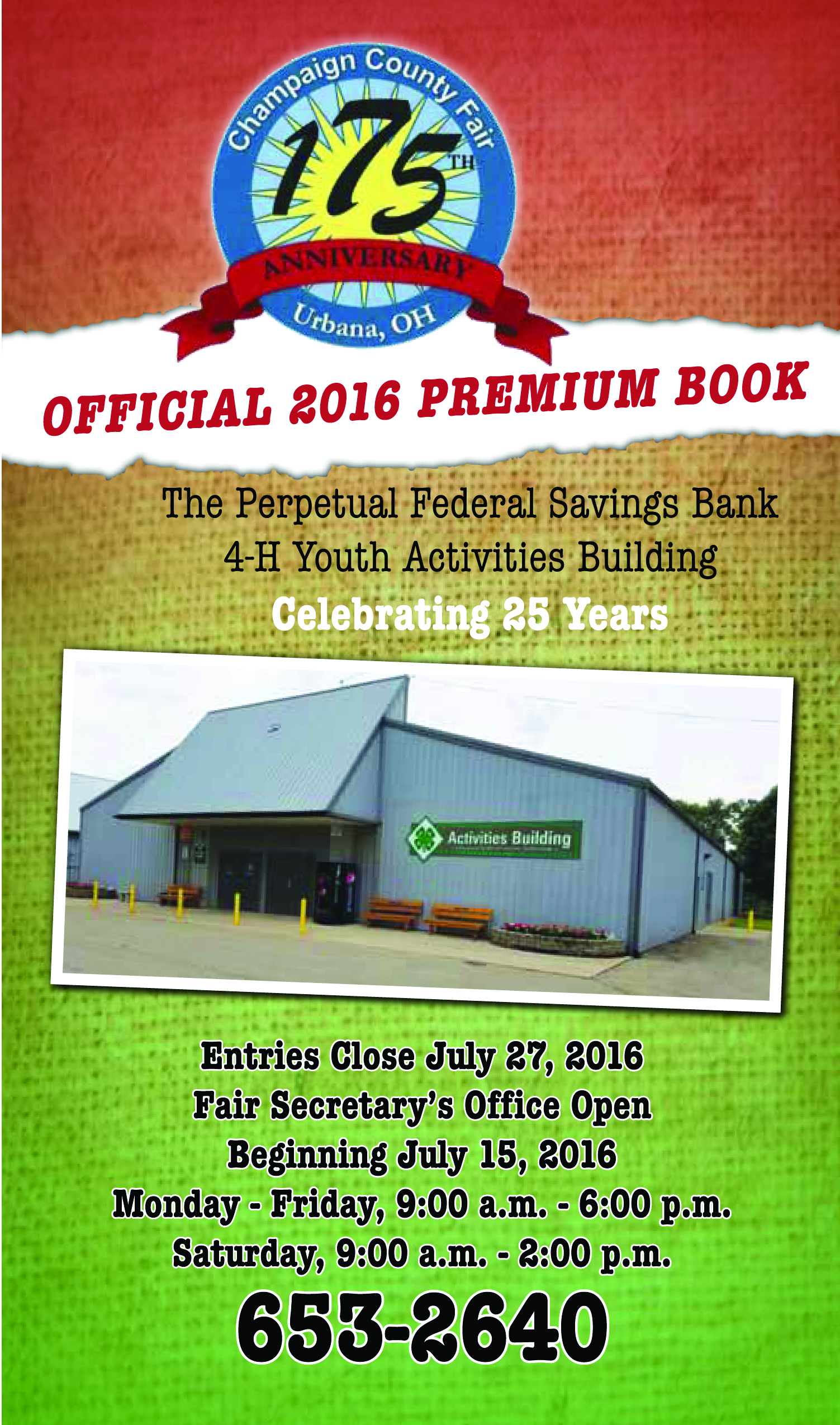 Champaign County Fair Premium Book 2016