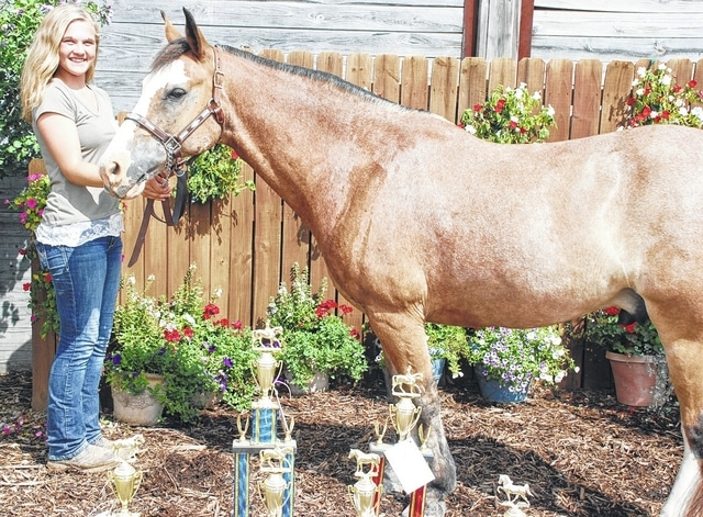 Kamryn Beaver won first place basic western dressage intro test 1, first place hunter under saddle pony, first place senior trail, first place hunt seat pony equitation, reserve champion hunt seat equitation and champion overall hunter under saddle.