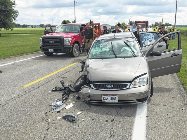 A crash occurred Wednesday in front of 2986 W. state Route 29.
