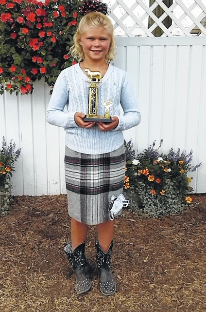 Journey Gump, First Place at the Guys and Gals Sheep Lead-in class.