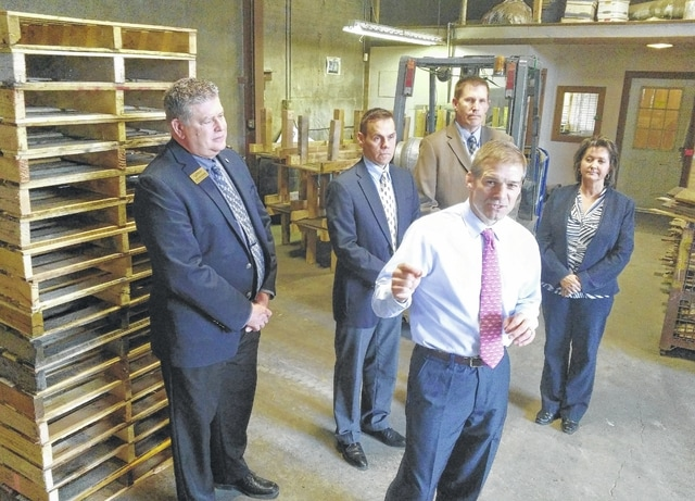 U.S. Rep. Jim Jordan, R-Urbana, spoke in April at Lima Pallet Company. He faces Democratic challenger Janet Garrett for the seat he's held since 2007.