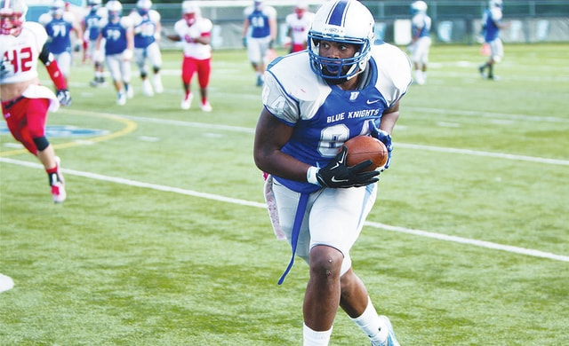 UU tight end Larry Southall (pictured) looks for running room during Saturday's game with UVa.-Wise at UU.