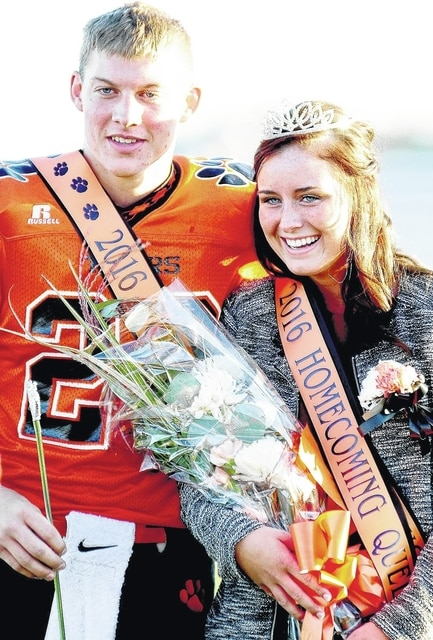 West Liberty-Salem's Sam Strickland was crowned 2016 Homecoming King and Kelby Strapp was crowned 2016 Homecoming Queen on Friday. The ceremony was held before the football game against Cedarville.