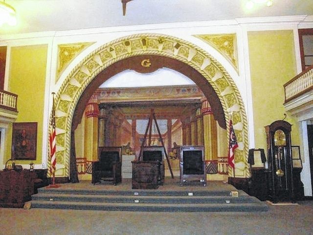 The Proscenium arch is the focal point of the upper auditorium of the Urbana Masonic Temple at 222 N. Main St. The Temple just celebrated its centennial.