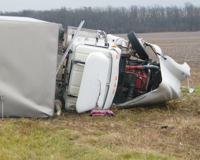 Emergency crews responded to an injury crash involving a semi-truck on East state Route 29 Monday morning. The driver of the semi was treated and released as of Monday afternoon.