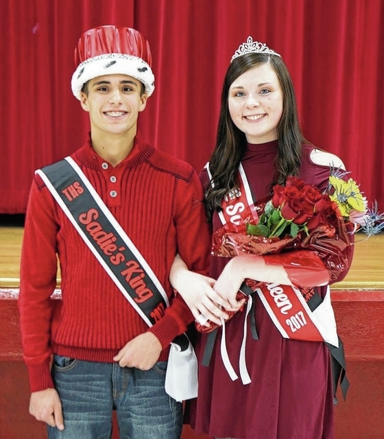 Zack Zizzo and Maddy McCreary were crowned Triad's 2017 Sadie's King and Queen at the boys basketball game Jan. 20.