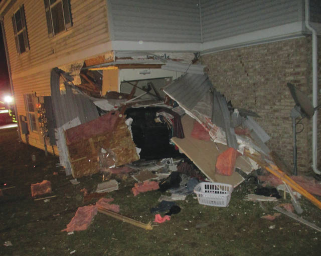 A driver crashed into an apartment building at the Settler's Ridge complex on West state Route 29 early Friday. It took several hours for officials to remove the vehicle from the building and some residents were evacuated due to the level of damage to the building. The driver of the vehicle was charged with operating a motor vehicle while intoxicated.