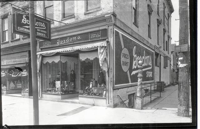 Gordon's Clothing Store did business on the southwest corner North Main and West Court streets in Urbana when this photo was taken, circa 1926.