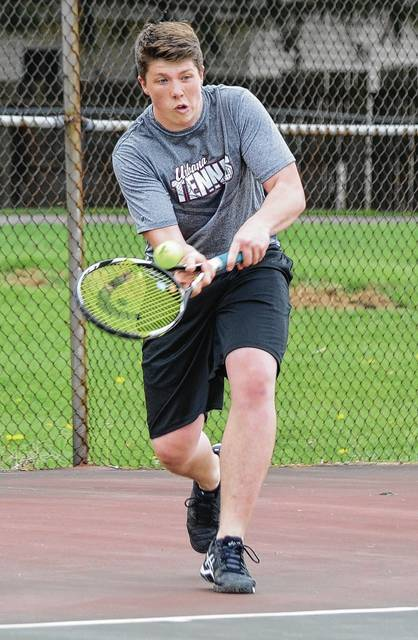 Urbana's Bailey Ullah (pictured) lost his match against Yellow Springs on Wednesday.