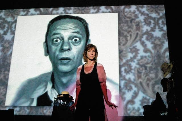 """Karen Knotts, daughter of actor and comedian Don Knotts, performs in her one-woman show about her father, best known for his role as Barney Fife in """"The Andy Griffith Show."""" Knotts is bringing her show to Mechanicsburg High School on April 15."""