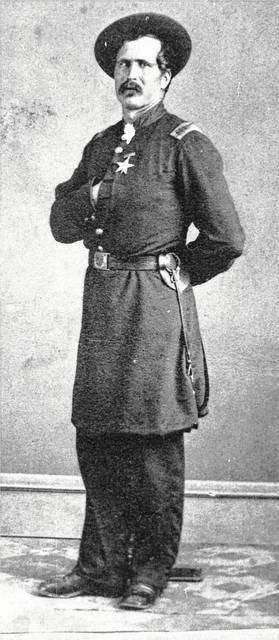 Tommy Thompson (1839-1927), a member of Co. A of the 66th OVI, received the American Civil War Medal of Honor. During the Battle of Chancellorsville (Virginia), he was one of four men who captured a Confederate officer and gained important information of the South's battle plan.