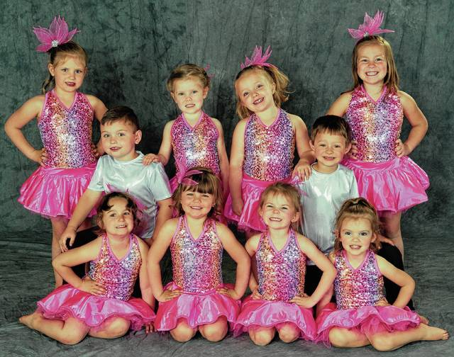 """The Studio for Cheer, Dance & Tumbling will present a """"Flashback to the 80's"""" 2017 Spring Recital at Graham Middle School at 7 p.m. June 2 and 3. Tickets will be available at the door. Students shown are in the Preschool Tumbling Class: in front, Lillian Puckett, Addie Schofield, Dylan Overton, Gracie Titus; in back, Grace Madewell, Cameron Swartzentruber, Ainsley Drexler, Annie Sherrock, Avery Organ, Lily Volp."""