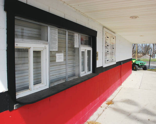Pictured is the concession stand at the North Lewisburg park. The concession stand was one of many buildings painted in Triad's colors as part of a park rehabilitation last year.
